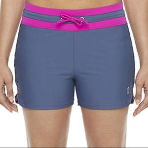 Free Country slate/magenta swim shorts size 2x